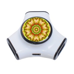 Red Green Apples Mandala 3 Port Usb Hub
