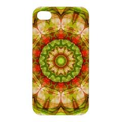 Red Green Apples Mandala Apple Iphone 4/4s Hardshell Case