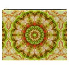 Red Green Apples Mandala Cosmetic Bag (XXXL)