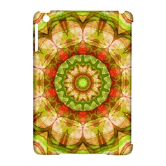 Red Green Apples Mandala Apple iPad Mini Hardshell Case (Compatible with Smart Cover)