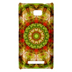 Red Green Apples Mandala HTC 8X Hardshell Case