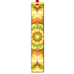 Red Green Apples Mandala Large Bookmark