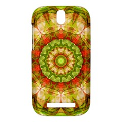 Red Green Apples Mandala HTC One SV Hardshell Case