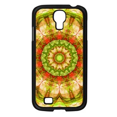 Red Green Apples Mandala Samsung Galaxy S4 I9500/ I9505 Case (black)