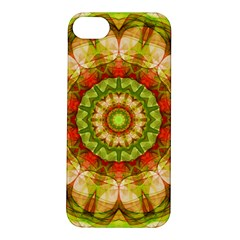 Red Green Apples Mandala Apple iPhone 5S Hardshell Case