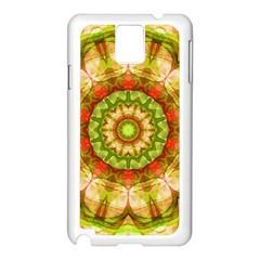 Red Green Apples Mandala Samsung Galaxy Note 3 N9005 Case (White)