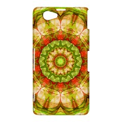 Red Green Apples Mandala Sony Xperia Z1 Compact Hardshell Case
