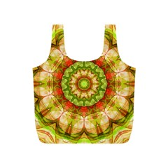 Red Green Apples Mandala Reusable Bag (S)