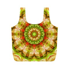 Red Green Apples Mandala Reusable Bag (m)