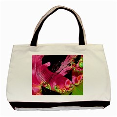 Elegant Writer Twin Sided Black Tote Bag