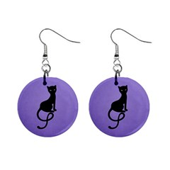 Gracious Evil Black Cat Mini Button Earrings