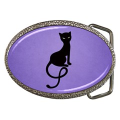 Gracious Evil Black Cat Belt Buckle (Oval)
