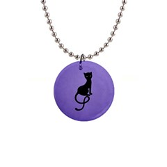 Gracious Evil Black Cat Button Necklace