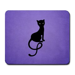 Purple Gracious Evil Black Cat Large Mouse Pad (Rectangle)