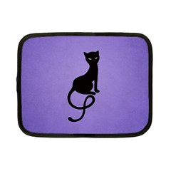 Purple Gracious Evil Black Cat Netbook Sleeve (Small)