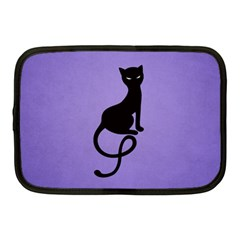 Purple Gracious Evil Black Cat Netbook Sleeve (Medium)