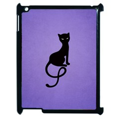 Purple Gracious Evil Black Cat Apple iPad 2 Case (Black)