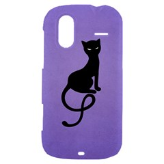 Purple Gracious Evil Black Cat HTC Amaze 4G Hardshell Case