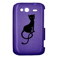 Purple Gracious Evil Black Cat HTC Wildfire S A510e Hardshell Case