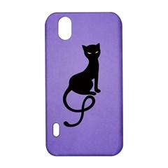Purple Gracious Evil Black Cat LG Optimus P970 Hardshell Case