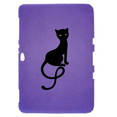 Purple Gracious Evil Black Cat Samsung Galaxy Tab 8.9  P7300 Hardshell Case