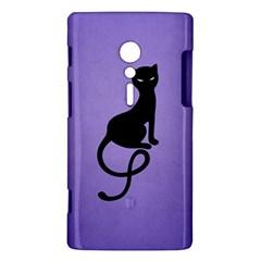 Purple Gracious Evil Black Cat Sony Xperia ion Hardshell Case