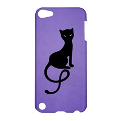 Purple Gracious Evil Black Cat Apple iPod Touch 5 Hardshell Case