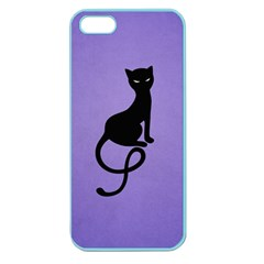 Purple Gracious Evil Black Cat Apple Seamless Iphone 5 Case (color)