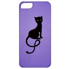 Purple Gracious Evil Black Cat Apple iPhone 5 Classic Hardshell Case