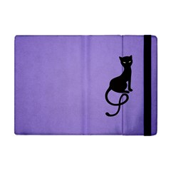 Purple Gracious Evil Black Cat Apple iPad Mini Flip Case