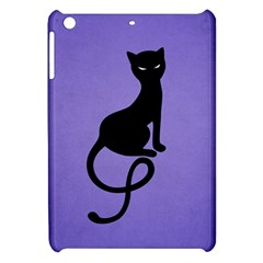 Purple Gracious Evil Black Cat Apple iPad Mini Hardshell Case