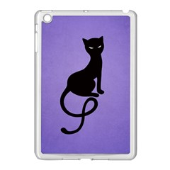 Purple Gracious Evil Black Cat Apple Ipad Mini Case (white)