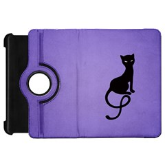 Purple Gracious Evil Black Cat Kindle Fire HD 7  (1st Gen) Flip 360 Case