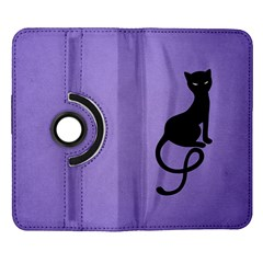 Purple Gracious Evil Black Cat Samsung Galaxy Note II Flip 360 Case
