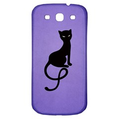 Purple Gracious Evil Black Cat Samsung Galaxy S3 S Iii Classic Hardshell Back Case