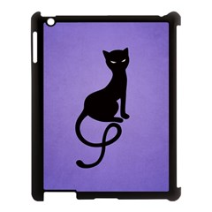 Purple Gracious Evil Black Cat Apple iPad 3/4 Case (Black)