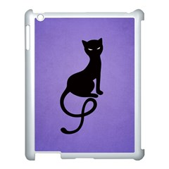 Purple Gracious Evil Black Cat Apple Ipad 3/4 Case (white)