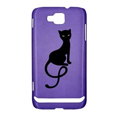 Purple Gracious Evil Black Cat Samsung Ativ S i8750 Hardshell Case