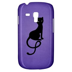 Purple Gracious Evil Black Cat Samsung Galaxy S3 Mini I8190 Hardshell Case