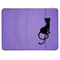 Purple Gracious Evil Black Cat Samsung Galaxy Tab 7  P1000 Flip Case