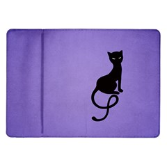 Purple Gracious Evil Black Cat Samsung Galaxy Tab 10.1  P7500 Flip Case