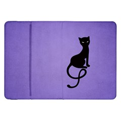 Purple Gracious Evil Black Cat Samsung Galaxy Tab 8.9  P7300 Flip Case