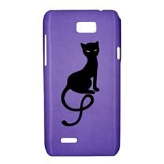 Purple Gracious Evil Black Cat Motorola XT788 Hardshell Case