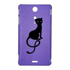 Purple Gracious Evil Black Cat Sony Xperia TX Hardshell Case