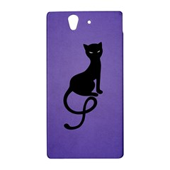 Purple Gracious Evil Black Cat Sony Xperia Z (L36H) Hardshell Case