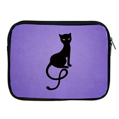 Purple Gracious Evil Black Cat Apple iPad Zippered Sleeve