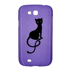 Purple Gracious Evil Black Cat Samsung Galaxy Grand GT-I9128 Hardshell Case