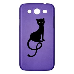 Purple Gracious Evil Black Cat Samsung Galaxy Mega 5.8 I9152 Hardshell Case
