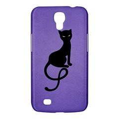 Purple Gracious Evil Black Cat Samsung Galaxy Mega 6.3  I9200 Hardshell Case