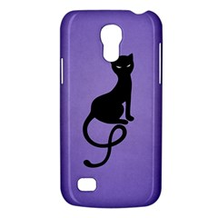 Purple Gracious Evil Black Cat Samsung Galaxy S4 Mini (gt I9190) Hardshell Case